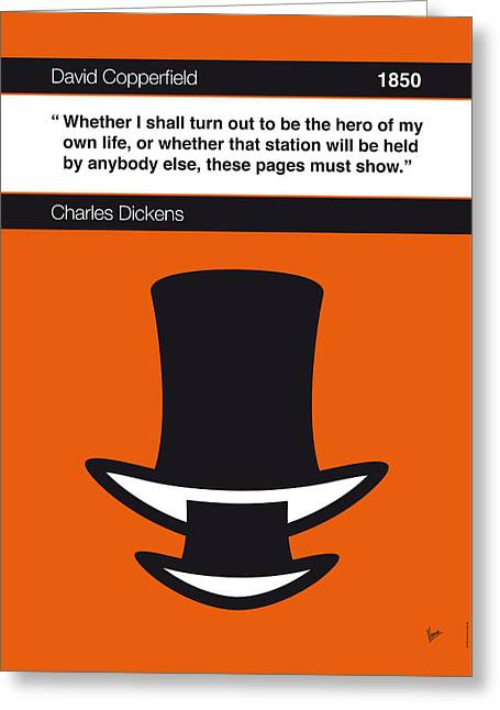 No020-my-david Copperfield-book-icon-poster Greeting Card