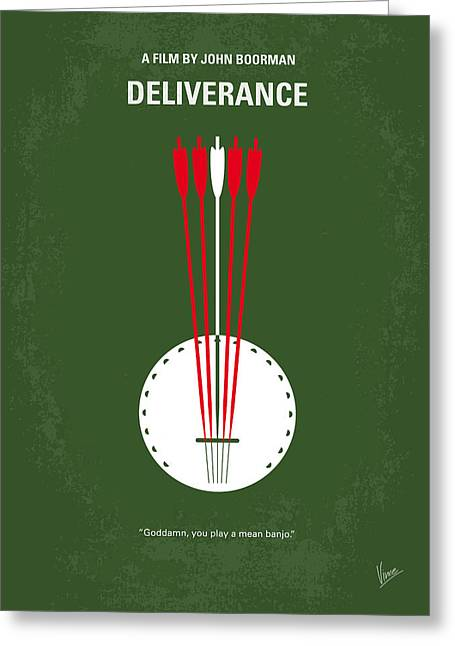 No020 My Deliverance Minimal Movie Poster Greeting Card by Chungkong Art