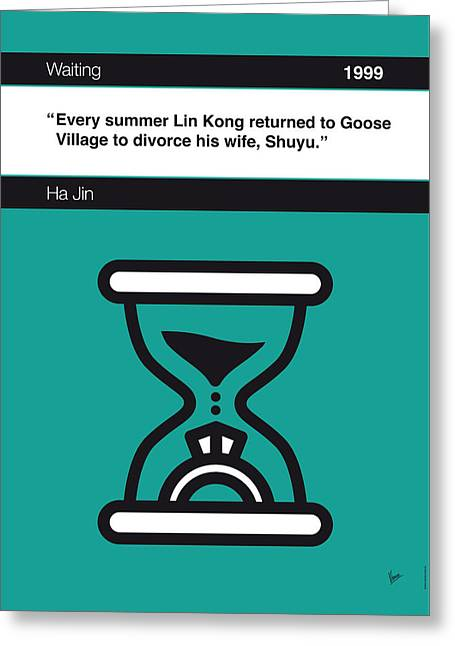 No029-my-waiting-book-icon-poster Greeting Card by Chungkong Art