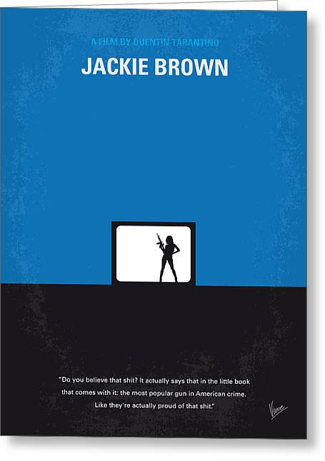 Jackson Greeting Cards - No044 My Jackie Brown minimal movie poster Greeting Card by Chungkong Art