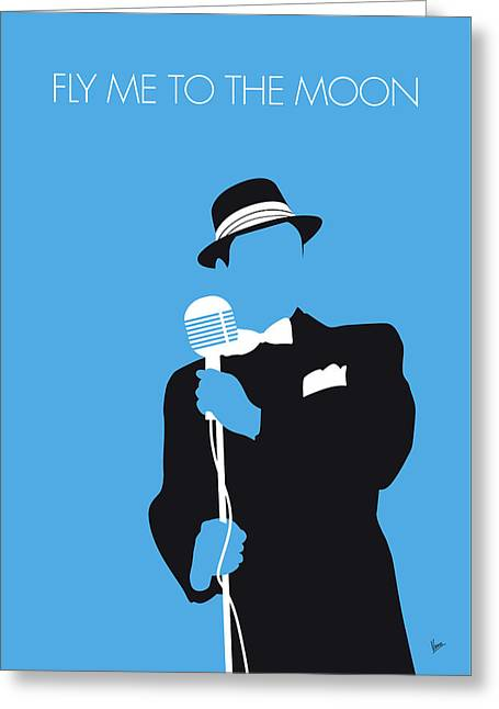 No059 My Sinatra Minimal Music Poster Greeting Card by Chungkong Art
