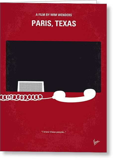No062 My Paris Texas Minimal Movie Poster Greeting Card by Chungkong Art
