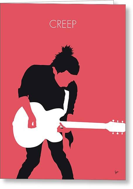 No062 My Radiohead Minimal Music Poster Greeting Card