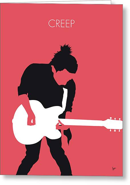 No062 My Radiohead Minimal Music Poster Greeting Card by Chungkong Art
