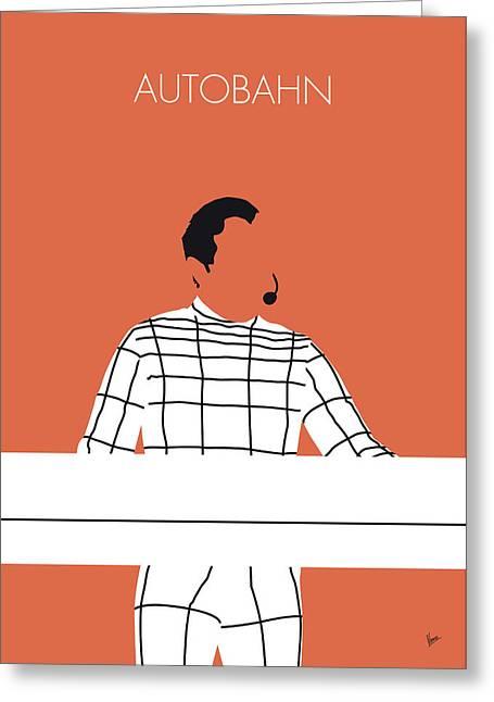 No063 My Kraftwerk Minimal Music Poster Greeting Card by Chungkong Art