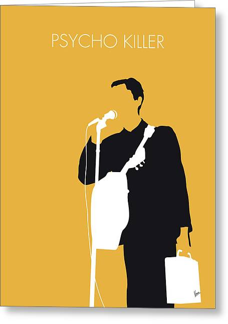 No064 My Talking Heads Minimal Music Poster Greeting Card by Chungkong Art