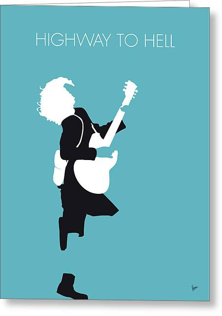 No065 My Acdc Minimal Music Poster Greeting Card