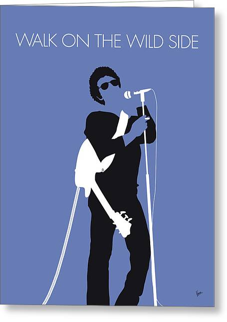 No068 My Lou Reed Minimal Music Poster Greeting Card