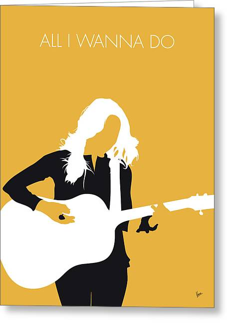 No074 My Sheryl Crow Minimal Music Poster Greeting Card