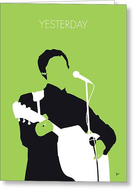 No076 My Paul Mccartney Minimal Music Poster Greeting Card by Chungkong Art