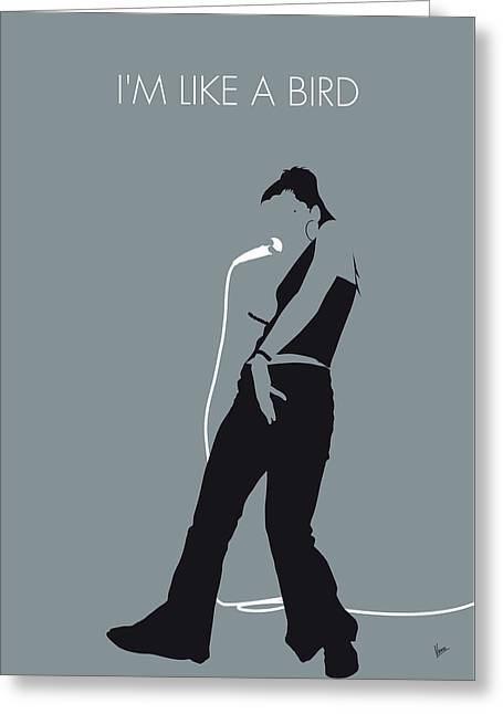 No077 My Nelly Furtado Minimal Music Poster Greeting Card