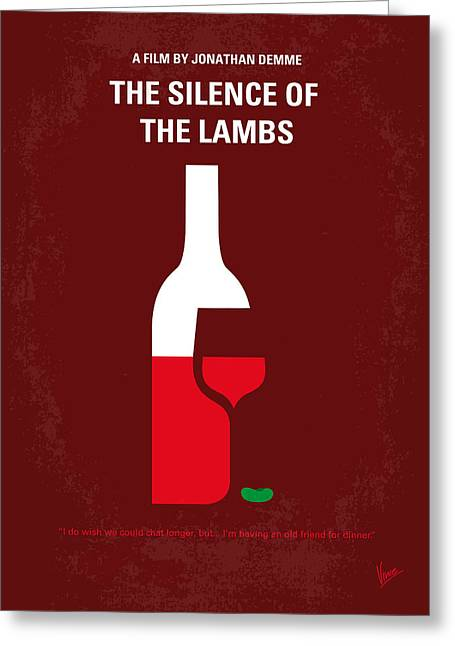 No078 My Silence Of The Lamb Minimal Movie Poster Greeting Card
