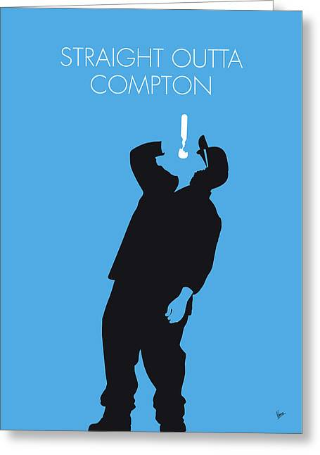 No079 My Nwa Minimal Music Poster Greeting Card