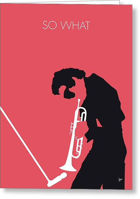 No082 My Miles Davis Minimal Music Poster Greeting Card by Chungkong Art