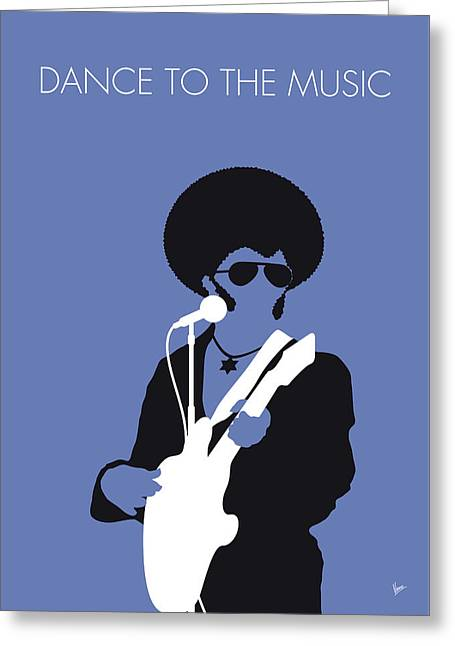 No088 My Sly And The Family Stone Minimal Music Poster Greeting Card