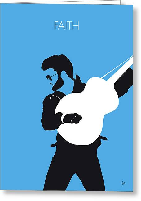 No089 My George Michael Minimal Music Poster Greeting Card