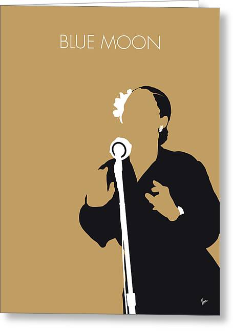 No090 My Billie Holiday Minimal Music Poster Greeting Card