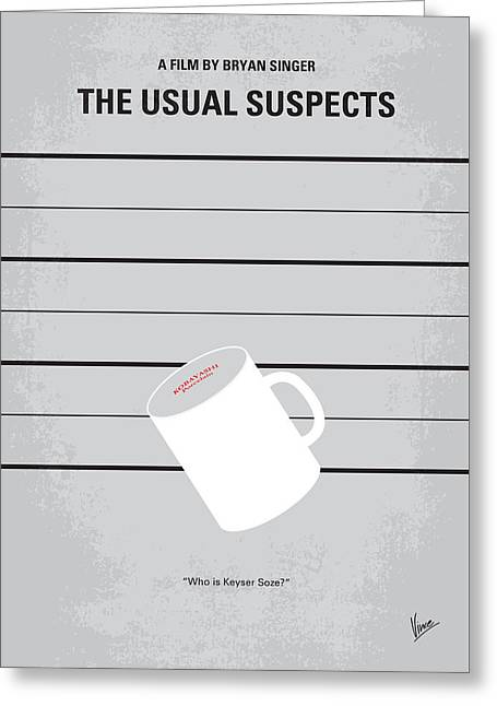 No095 My The Usual Suspects Minimal Movie Poster Greeting Card by Chungkong Art