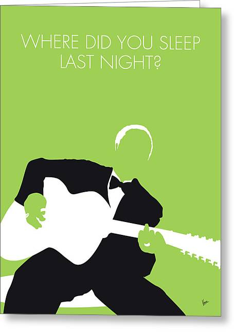 No096 My Lead Belly Minimal Music Poster Greeting Card