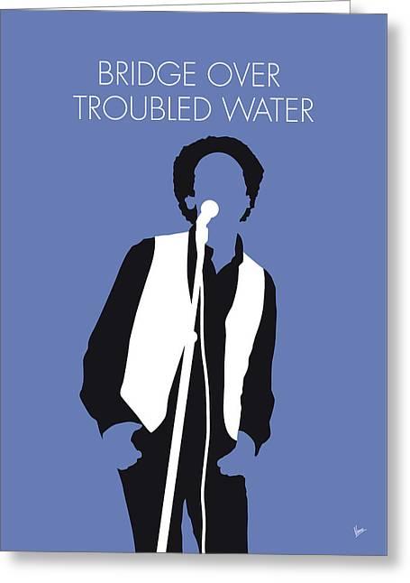 No098 My Art Garfunkel Minimal Music Poster Greeting Card
