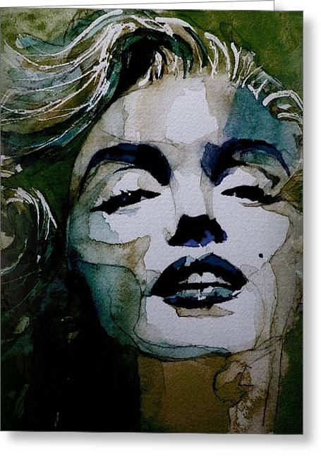 No10 Larger Marilyn  Greeting Card by Paul Lovering