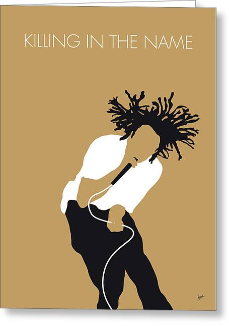 No100 My Rage Against The Machine Minimal Music Poster Greeting Card