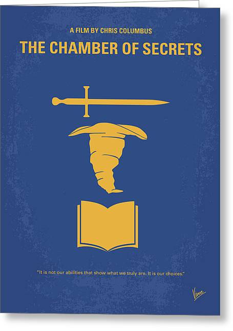No101-2 My Hp - Chamber Of Secrets Minimal Movie Poster Greeting Card
