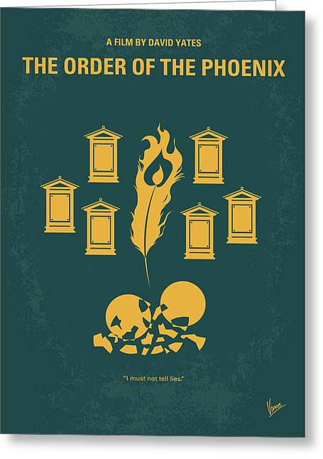 No101-5 My Hp - Order Of The Phoenix Minimal Movie Poster Greeting Card by Chungkong Art