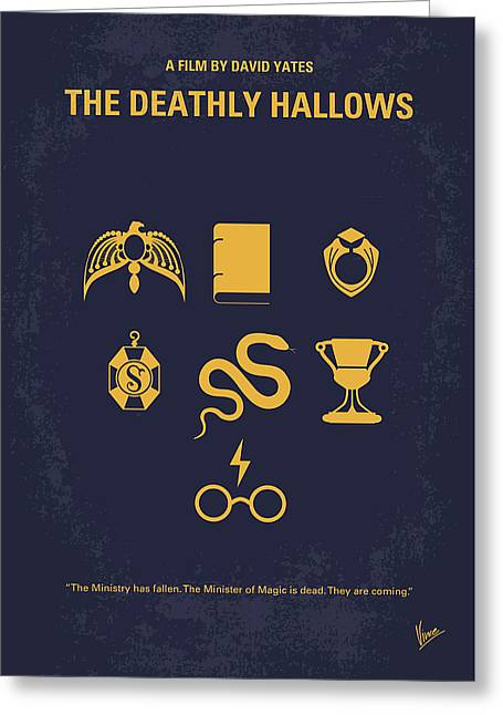 No101-7 My Hp - Deathly Hallows Minimal Movie Poster Greeting Card