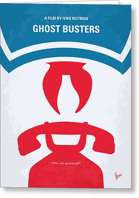 No104 My Ghostbusters Minimal Movie Poster Greeting Card by Chungkong Art