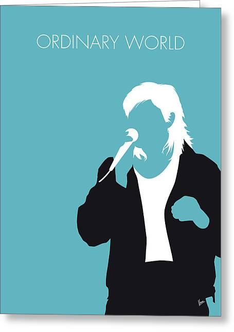 No105 My Duran Duran Minimal Music Poster Greeting Card