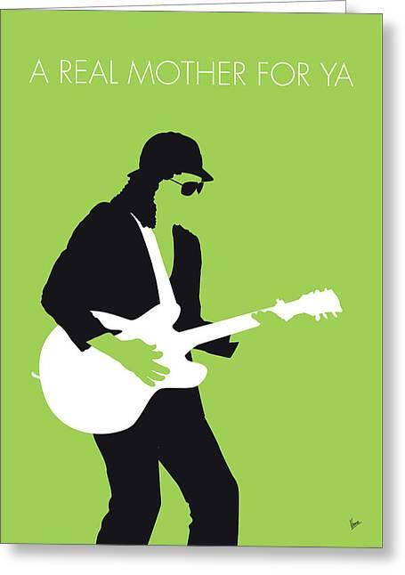 No106 My Johnny Guitar Watson Minimal Music Poster Greeting Card
