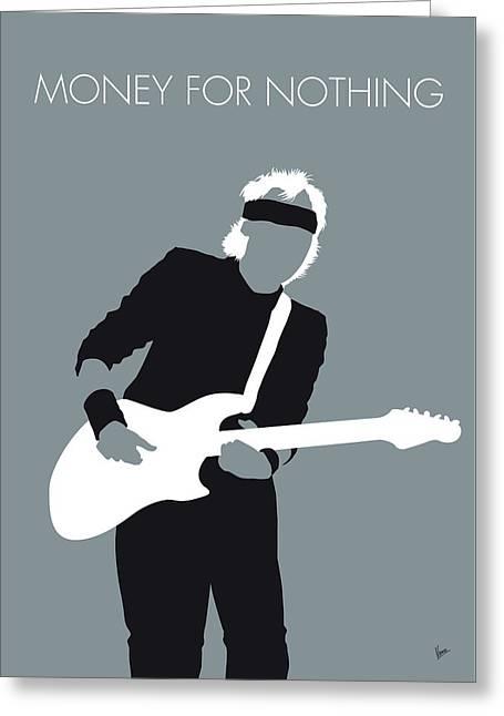 No107 My Mark Knopfler Minimal Music Poster Greeting Card