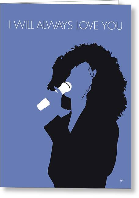 No108 My Whitney Houston Minimal Music Poster Greeting Card