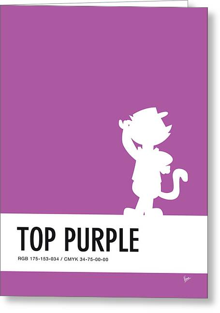 No11 My Minimal Color Code Poster Top Cat Greeting Card