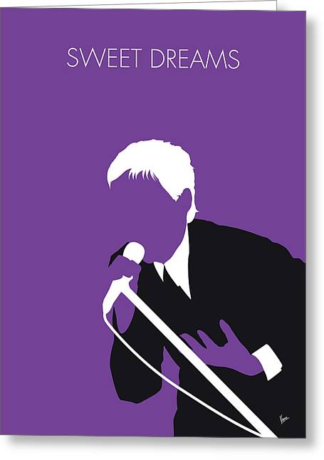 No111 My Eurythmics Minimal Music Poster Greeting Card