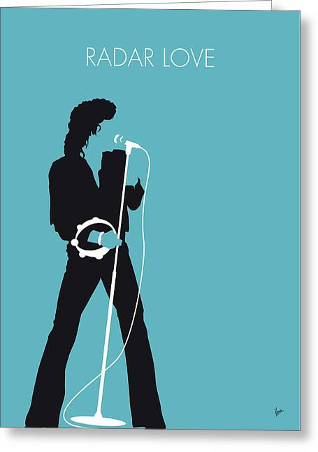 No115 My Golden Earring Minimal Music Poster Greeting Card