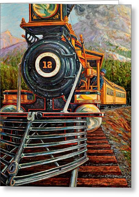 No.12 In The Mountains Greeting Card by Gary Symington