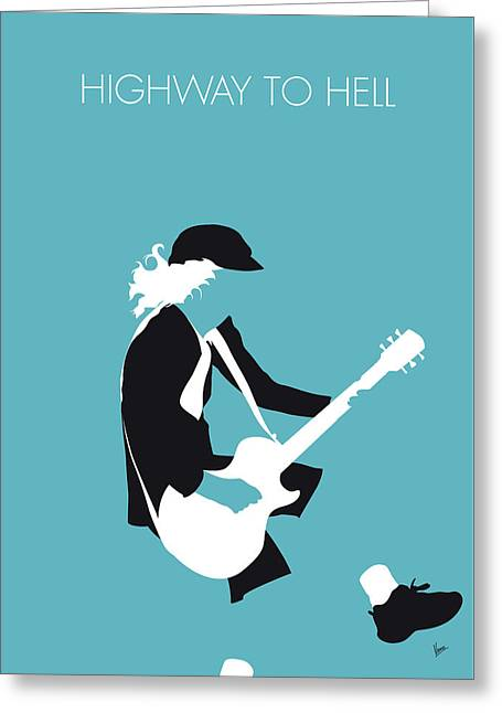 No125 My Acdc Minimal Music Poster Greeting Card