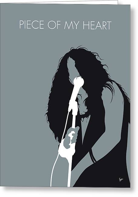 No127 My Janis Joplin Minimal Music Poster Greeting Card