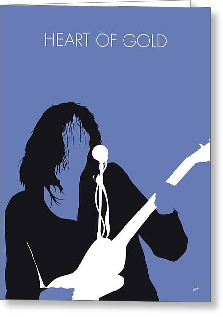 No128 My Neil Young Minimal Music Poster Greeting Card