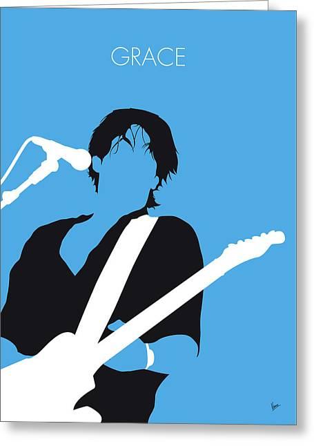 No129 My Jeff Buckley Minimal Music Poster Greeting Card