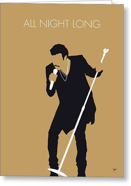 No130 My Lionel Richie Minimal Music Poster Greeting Card