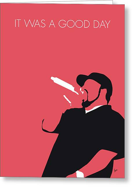 No132 My Ice Cube Minimal Music Poster Greeting Card
