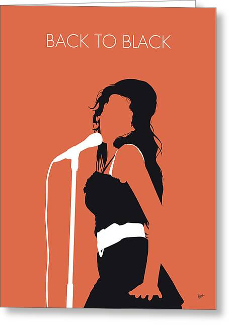 No133 My Amy Winehouse Minimal Music Poster Greeting Card