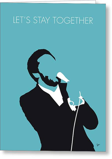 No135 My Al Green Minimal Music Poster Greeting Card