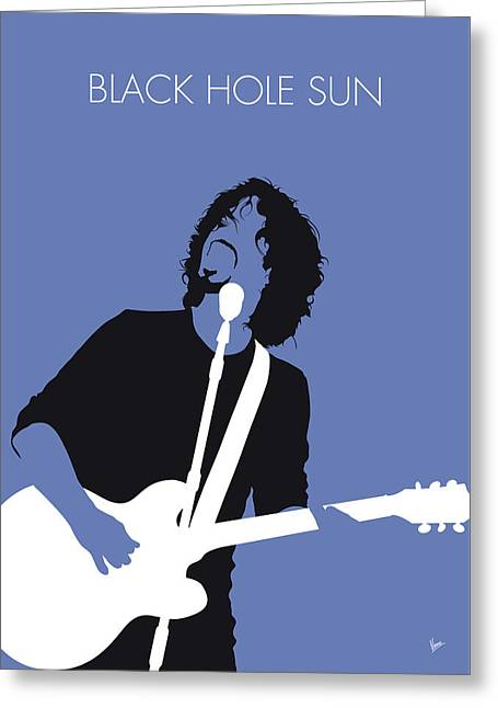 No138 My Soundgarden Minimal Music Poster Greeting Card