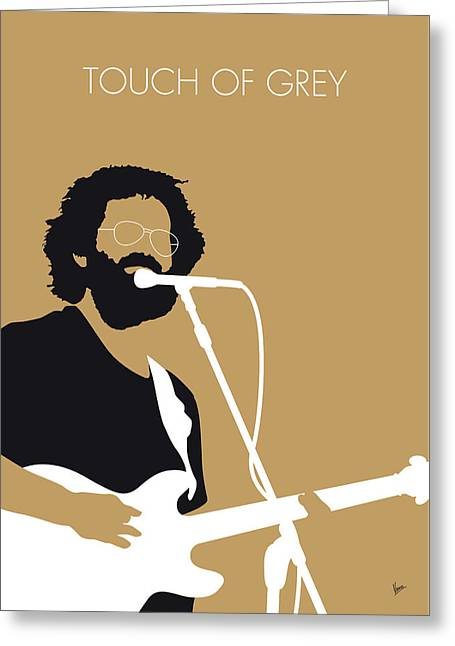 No140 My Grateful Dead Minimal Music Poster Greeting Card