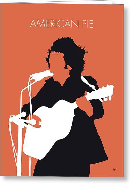 No143 My Don Mclean Minimal Music Poster Greeting Card