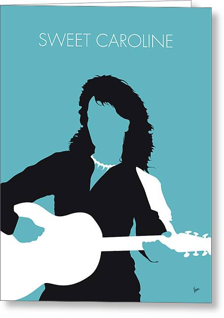 No145 My Neil Diamond Minimal Music Poster Greeting Card